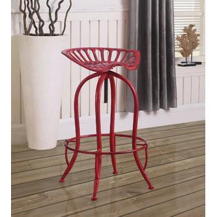 Awe Inspiring Esofastore Coaster Home 104946 Set Of 4Pc Antique Red Metal Ibusinesslaw Wood Chair Design Ideas Ibusinesslaworg