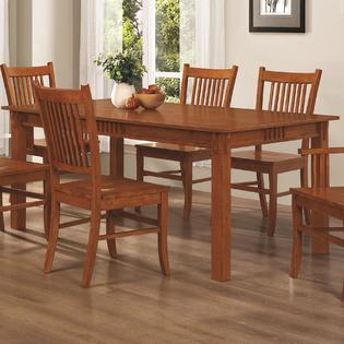 Coaster Modern Mission Style Oak Finish Hardwood Dining ...