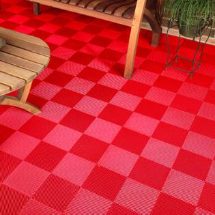 ModuTile ModuTile Multi Use Perforated Interlocking Tiles For Patio, Deck  And Garage Flooring
