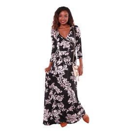 Hadari Women's Floral Brocade Maxi Dress at Sears.com