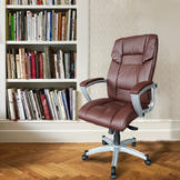 Outt PU leather office chair Executive Office Task Chair Computer Desk High (brown) at Sears.com