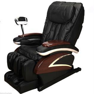 Shiatsu Massage Electronic Full Body Shiatsu Massage Chair Recliner W/Heat Stretched Foot Rest