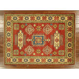 UN Rug Super Kazak Brick Red Veg Dyed 5'x7' Hand Knotted Wool Oriental Area Rug - H4083 at Sears.com