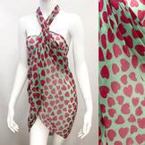 Accessoriesforever Beach Sarong Pareo Wrap Heart Fuchsia Pink Green at Sears.com
