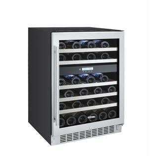 Titan 46 bottle dual zone built-in wine cooler