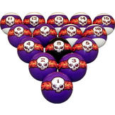 Billiard Ball Set Flaming Skulls Billiard Ball Set at Sears.com