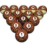 Billiard Ball Set Leopard Wild Billiard Ball Set at Sears.com