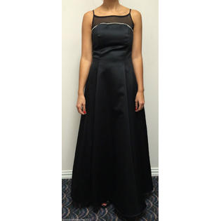 Betsy & Adam by Jaslene Women's Black Polyester with Rhinestones Dress Size 8 at Sears.com