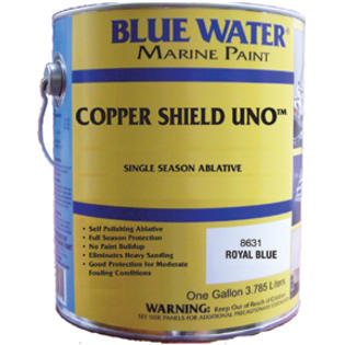 Blue Water Marine Paint Copper Shield Uno Ablative Bottom Paint By Blue Water NEW GALLON BLACK