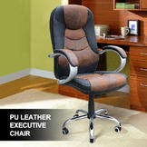 Outt PU leather office chair Executive Office Task Chair Computer Desk High (black & brown) at Sears.com