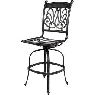 Ariana Cast Aluminum Patio Barstool Swivel SVPARABB Patio Bar - Swivel patio bar stools