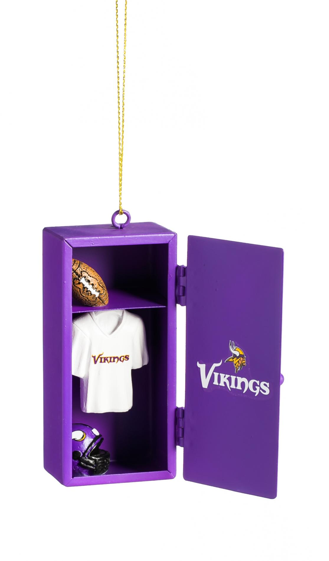 NFL Team Locker Christmas Ornament - Minnesota Vikings PartNumber: 046W009026120001P KsnValue: 9026120 MfgPartNumber: ZS3OT3817LK