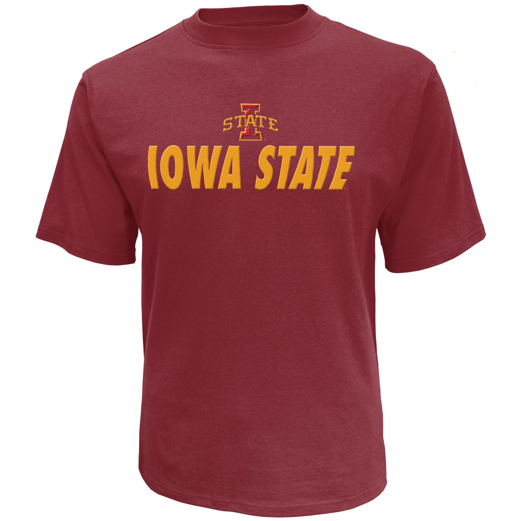 NCAA Men's Embroidered Graphic T-Shirt - Iowa State Cyclones 046VA94595712P