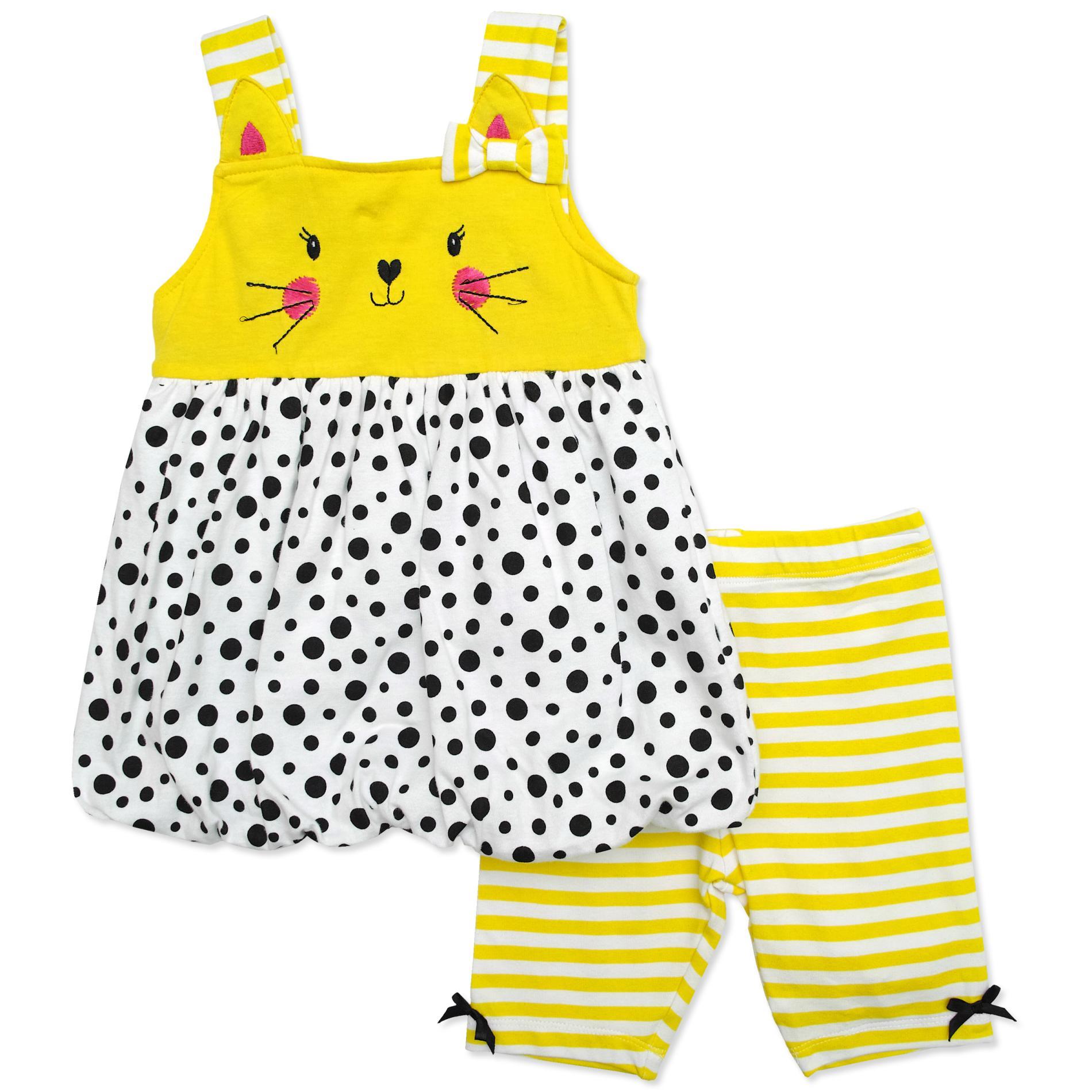 Nanette Infant & Toddler Girls' Sleeveless Tunic & Shorts - Striped & Polka Dot PartNumber: 029VA94985712P MfgPartNumber: 6CG5779