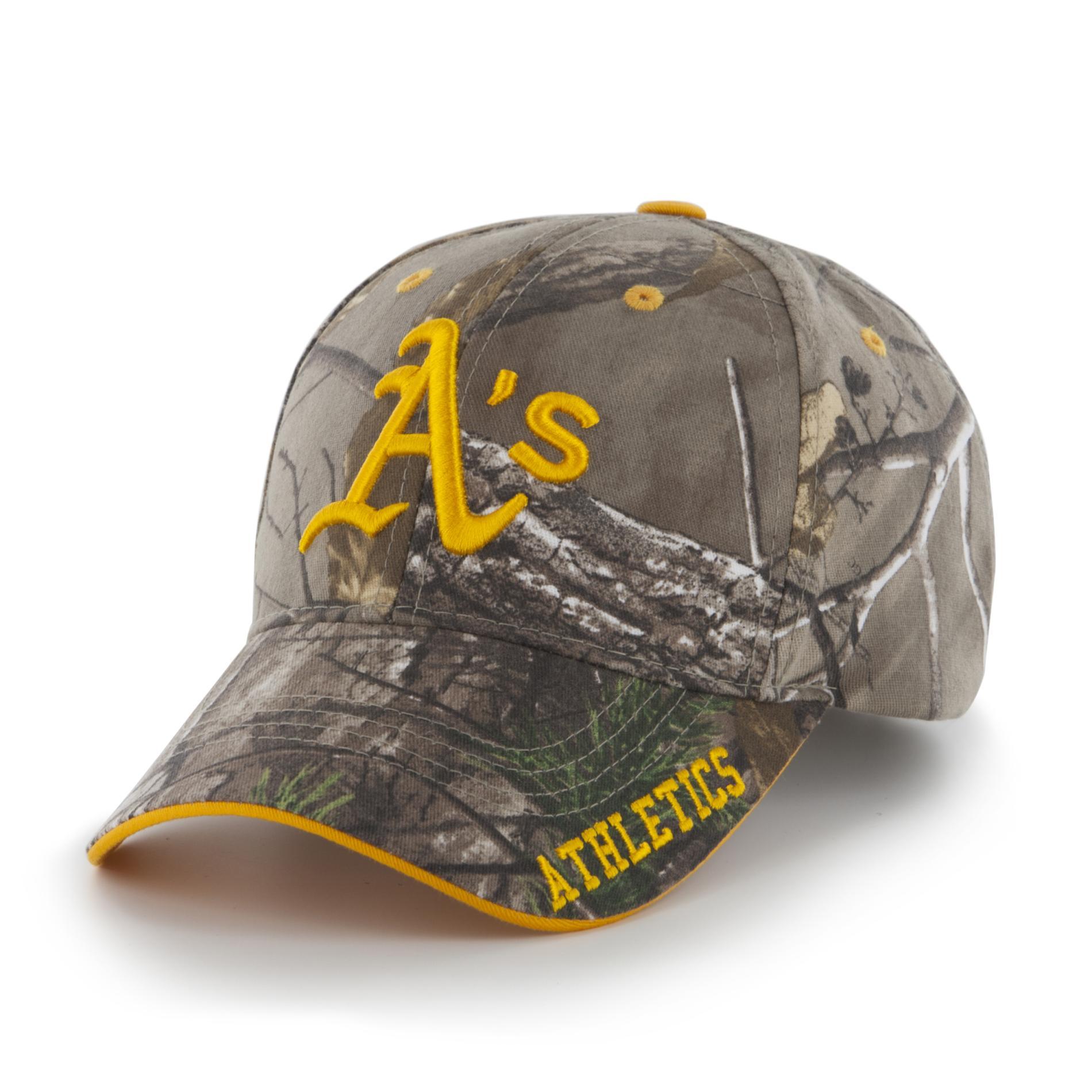 MLB Men's Camouflage Baseball Hat - Oakland Athletics, Green