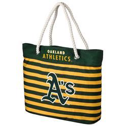 0c381fd328 MLB Striped Tote Bag - Oakland Athletics