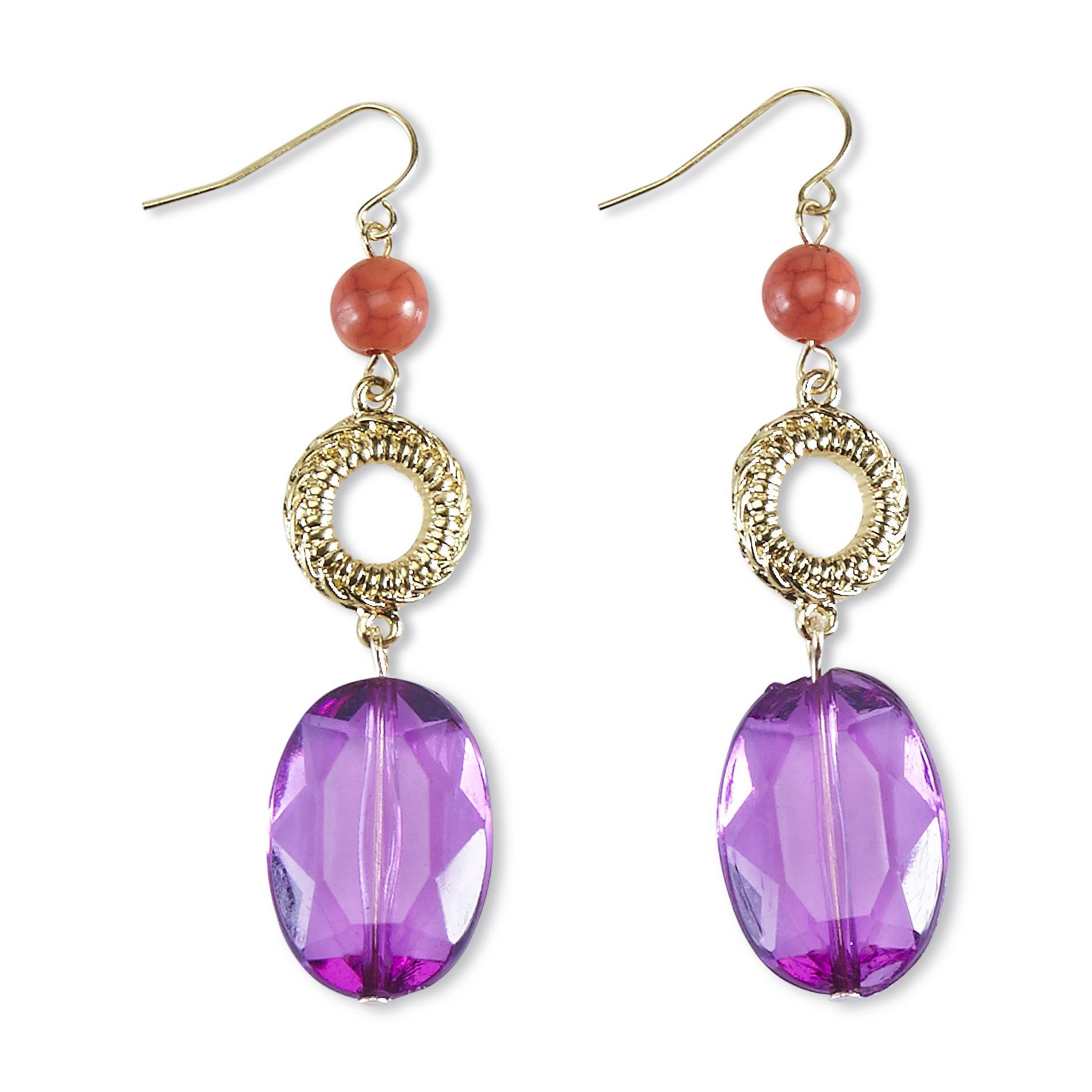 Jaclyn Smith Women's Goldtone Drop Earrings