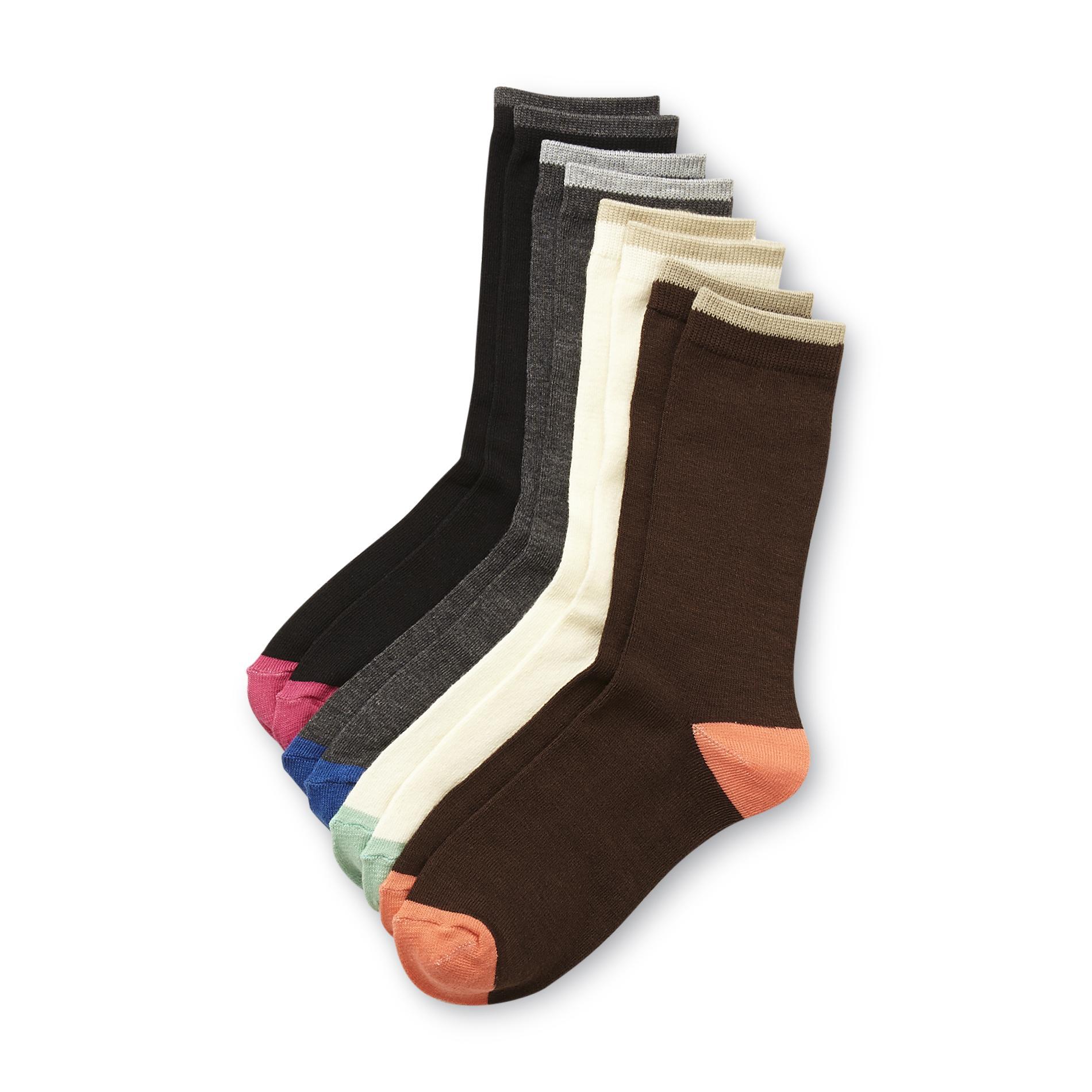 Studio S Women's 4-Pairs Crew Socks - Colorblock PartNumber: 07524218000P KsnValue: 8102393 MfgPartNumber: 5720314