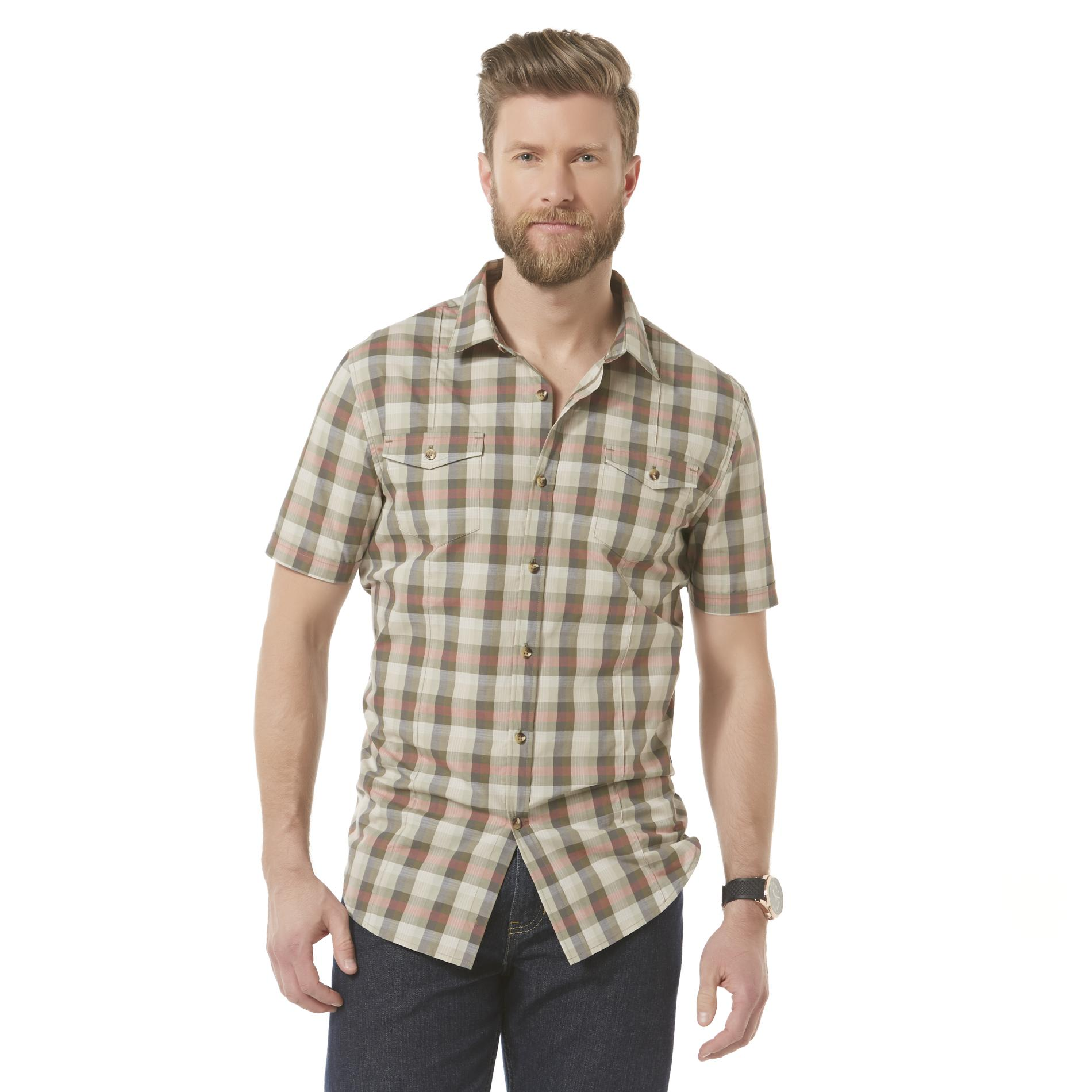 Structure Men's Short-Sleeve Casual Shirt - Plaid