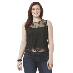 Bongo Junior's Plus Lace Crop Top & Cami at Kmart.com
