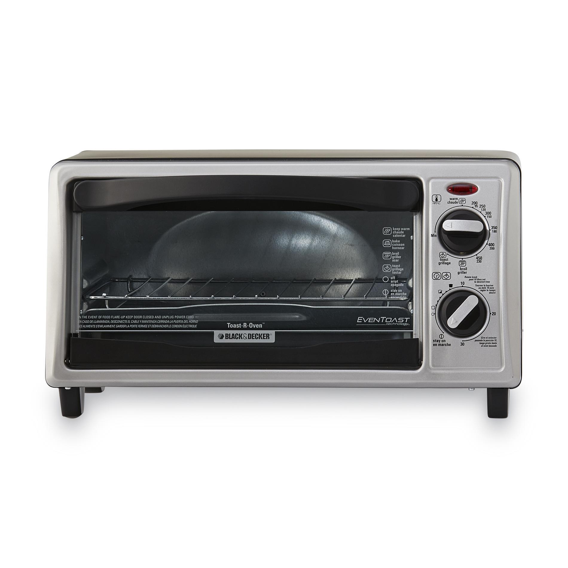BLACK+DECKER 4-Slice Toaster Oven Silver PartNumber: 00835517000P KsnValue: 5000321 MfgPartNumber: TO1332SBD