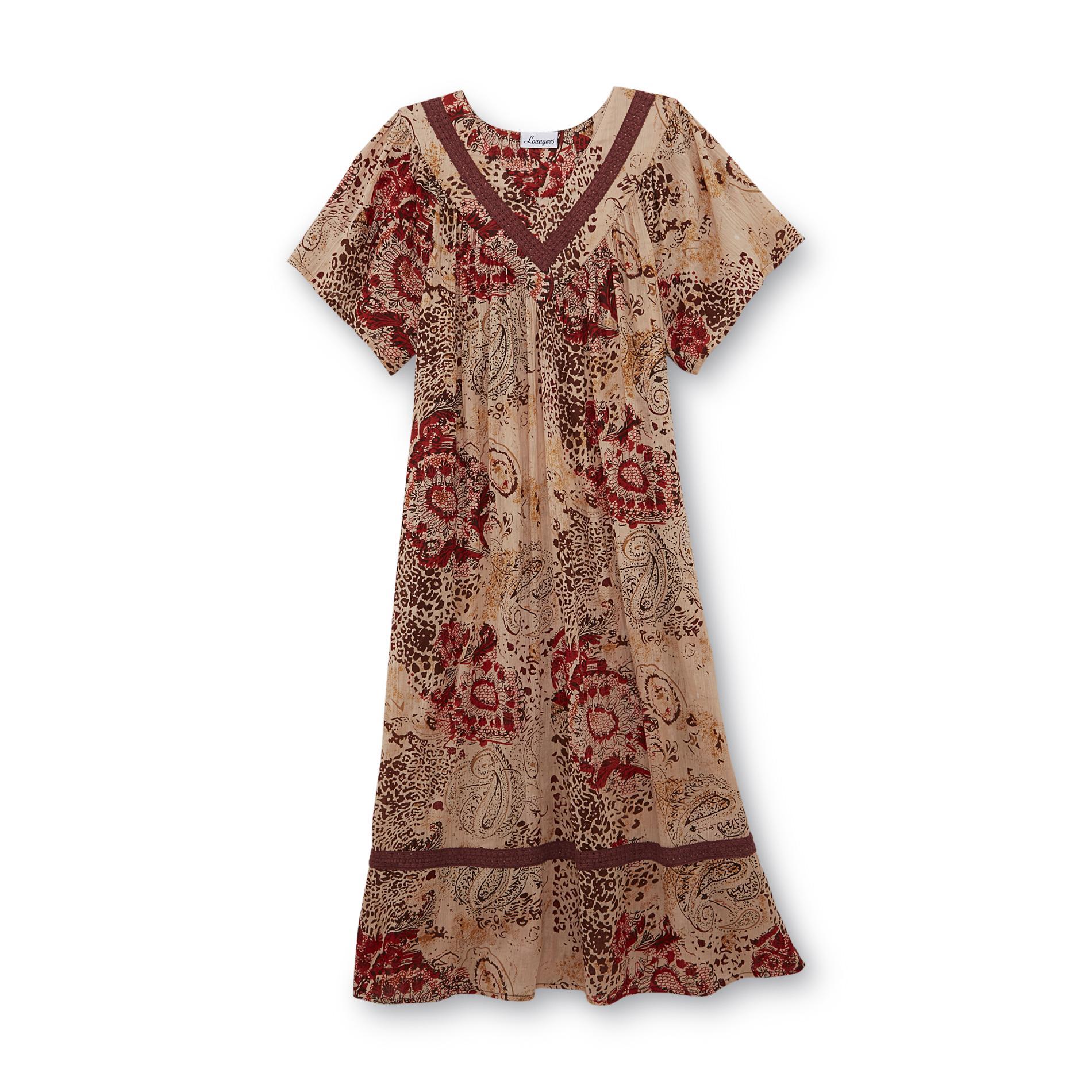 Women's Lounge Dress - Leopard Print