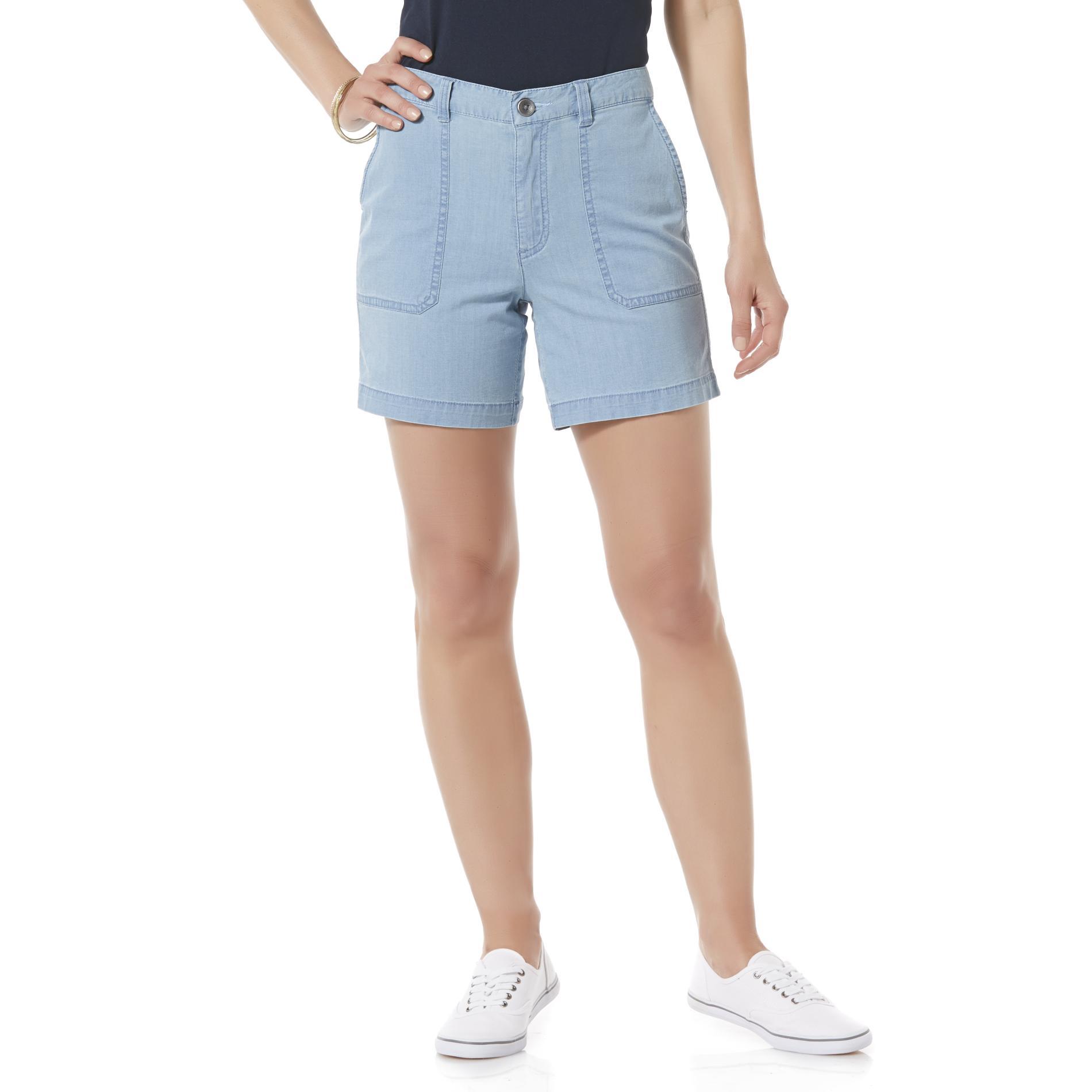 Basic Editions Women's Chambray Shorts