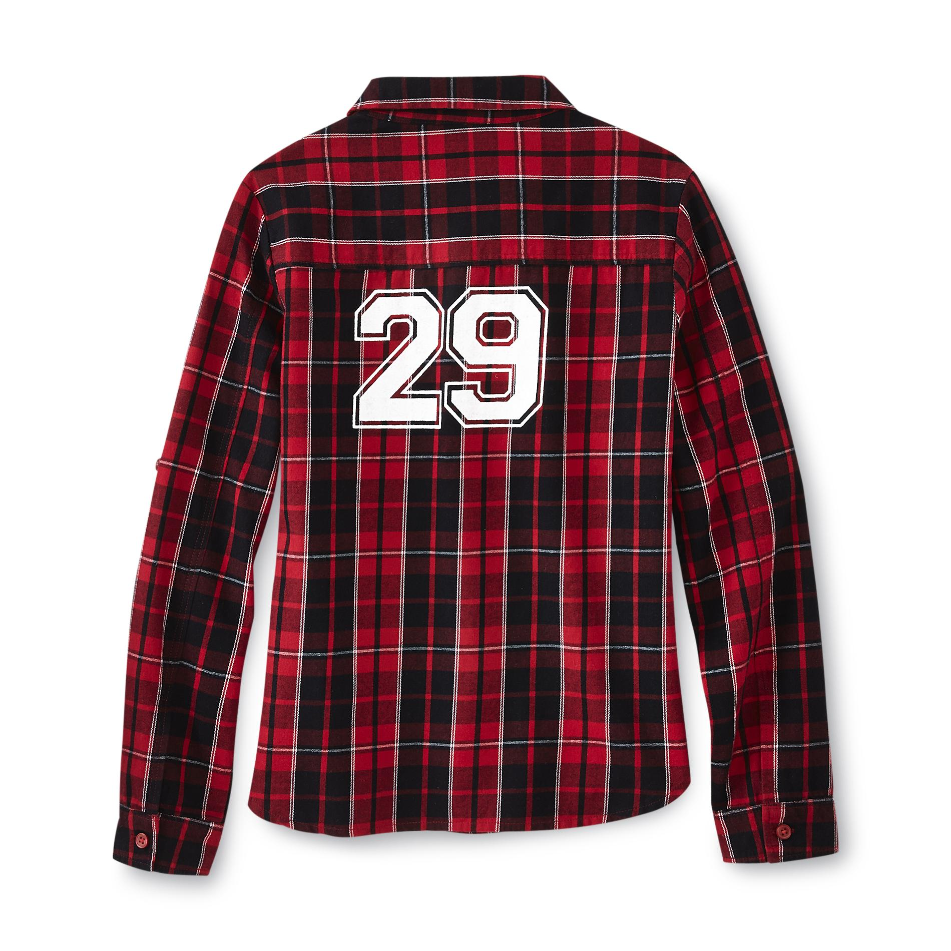 Route 66 Girl's Graphic Flannel Shirt - Plaid