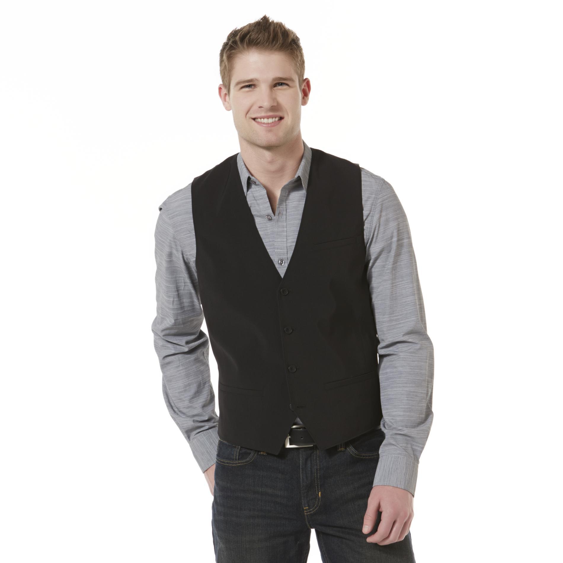 Attention Men's 4-Button Dress Vest