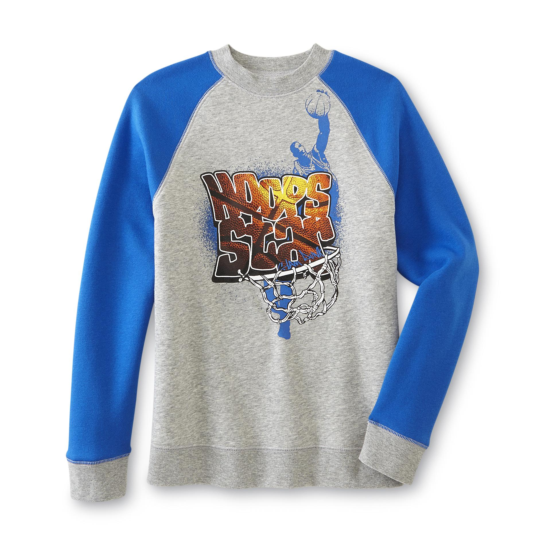 Joe Boxer Boy's Graphic Sweatshirt - Hoops Star