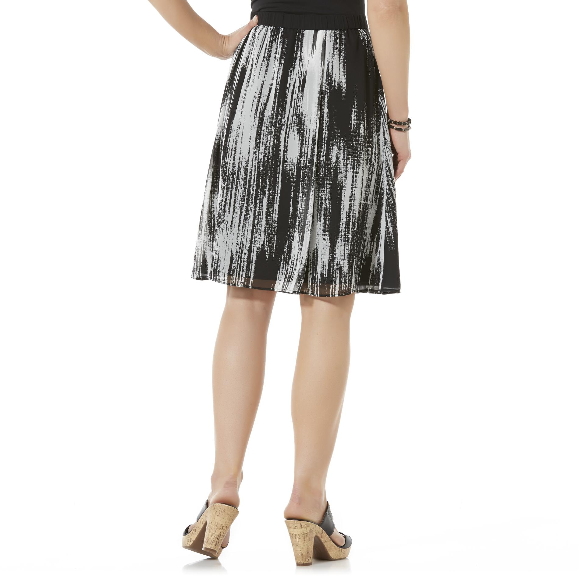 Jaclyn Smith Women's Skirt - Abstract Print