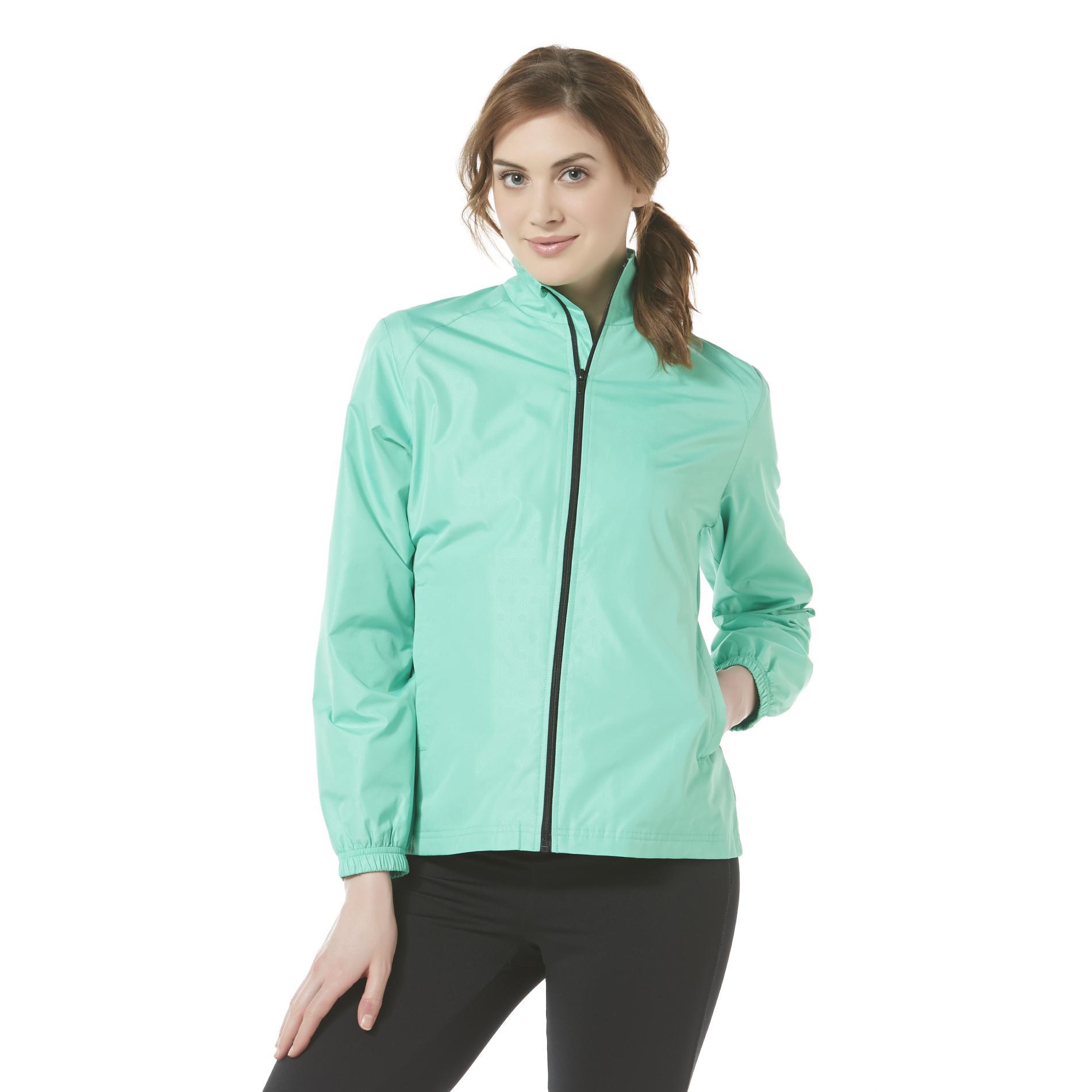 Women's Embossed Windbreaker Jacket - Geometric