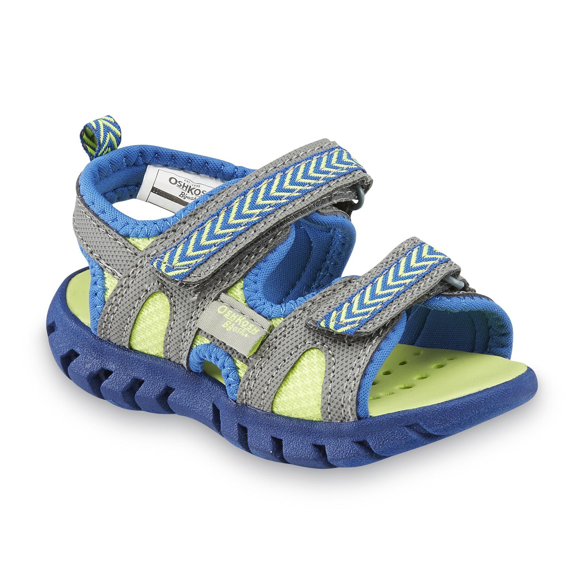 OshKosh Toddler Boy's Ike Blue/Yellow/Gray Athletic Sandal