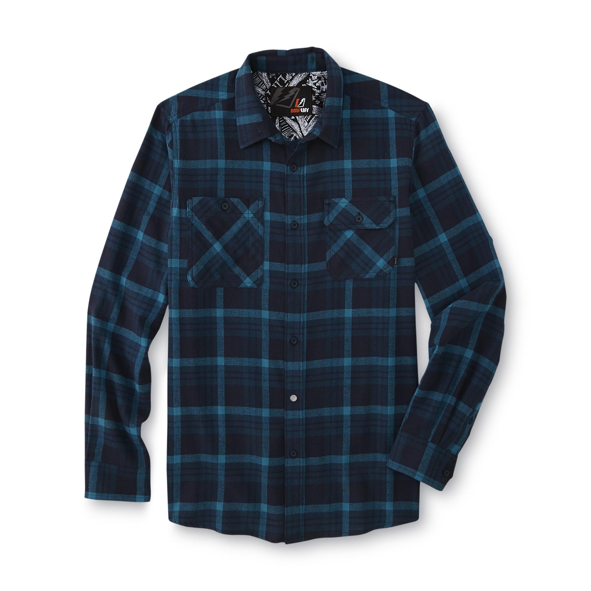 Amplify Young Men's Button-Front Shirt - Plaid