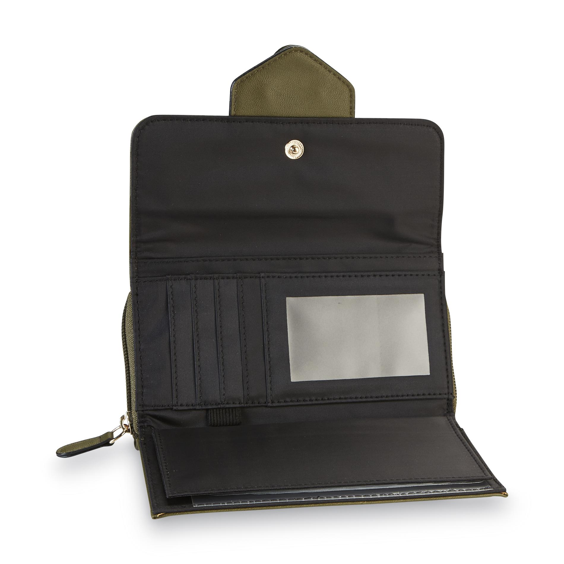 Jaclyn Smith Women's Checkbook Wallet