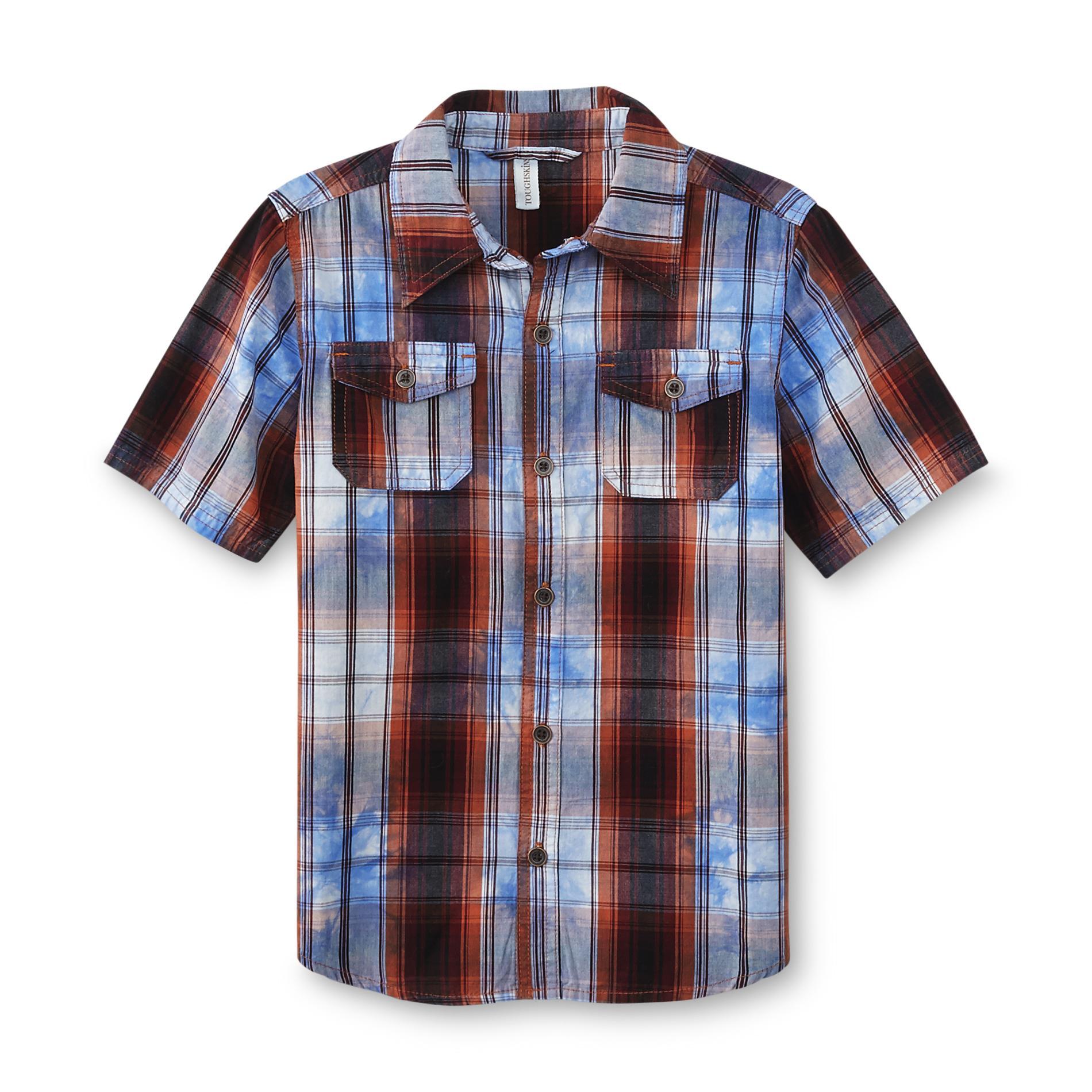Toughskins Boy's Button-Front Shirt - Plaid