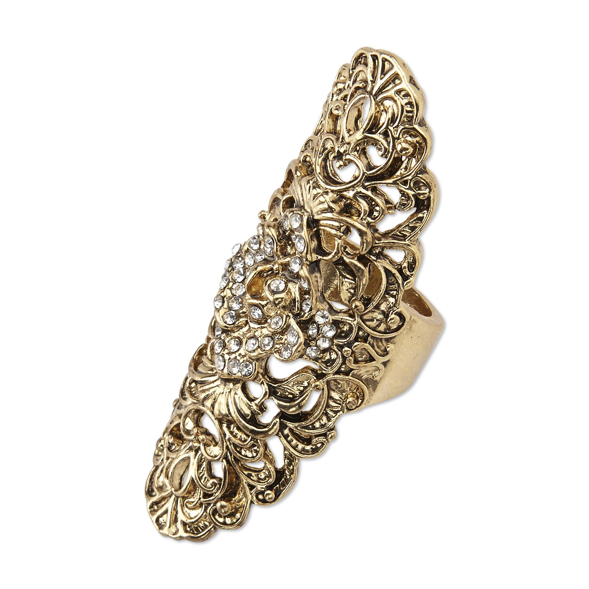 Joe Boxer Women's Goldtone Shield Ring