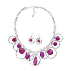 Attention Women's Silvertone Hoop Necklace & Earrings at Kmart.com