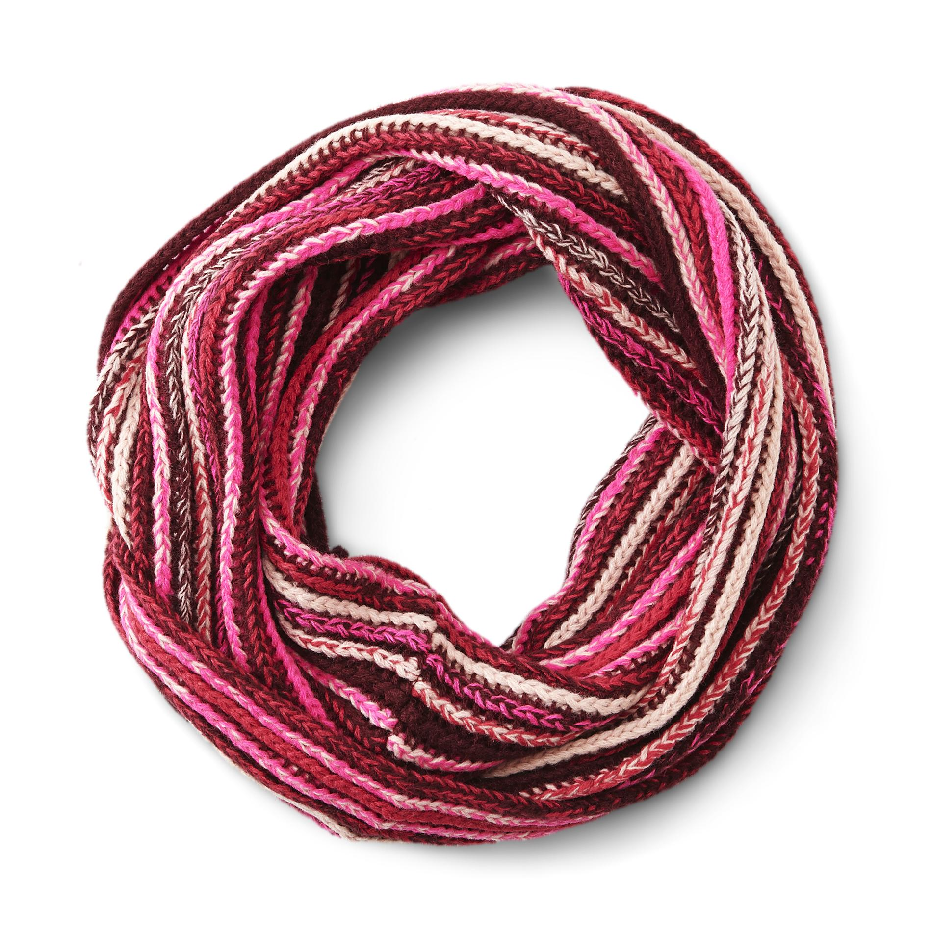 Women's Knit Infinity Scarf - Multicolored