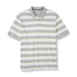 Basic Editions Men's Big & Tall Pique Polo Shirt - Striped at Kmart.com