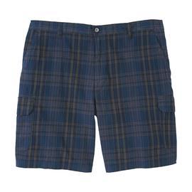 Basic Editions Men's Big & Tall Cargo Shorts - Plaid at Kmart.com