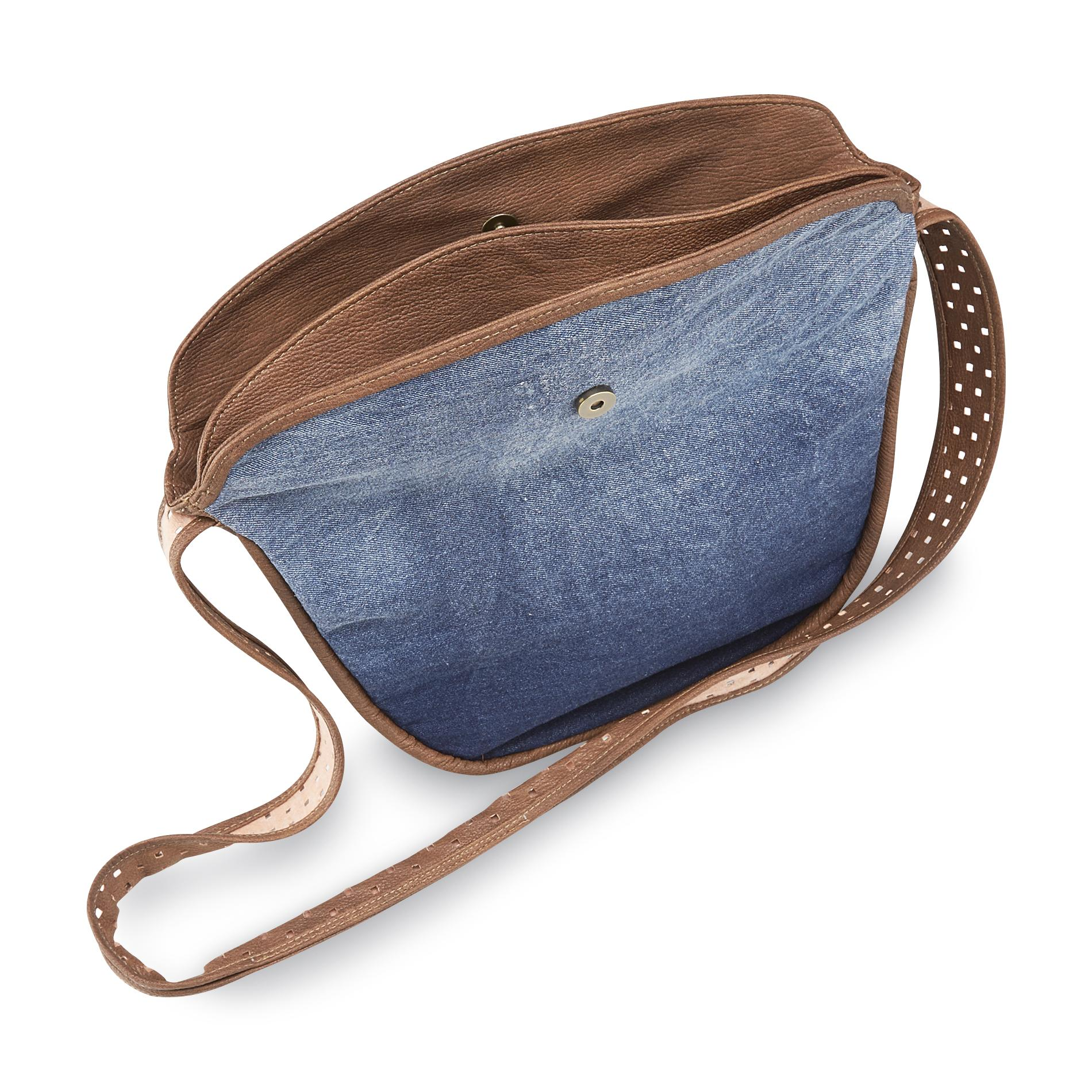 Joe Boxer Women's Denim Crossbody Bag