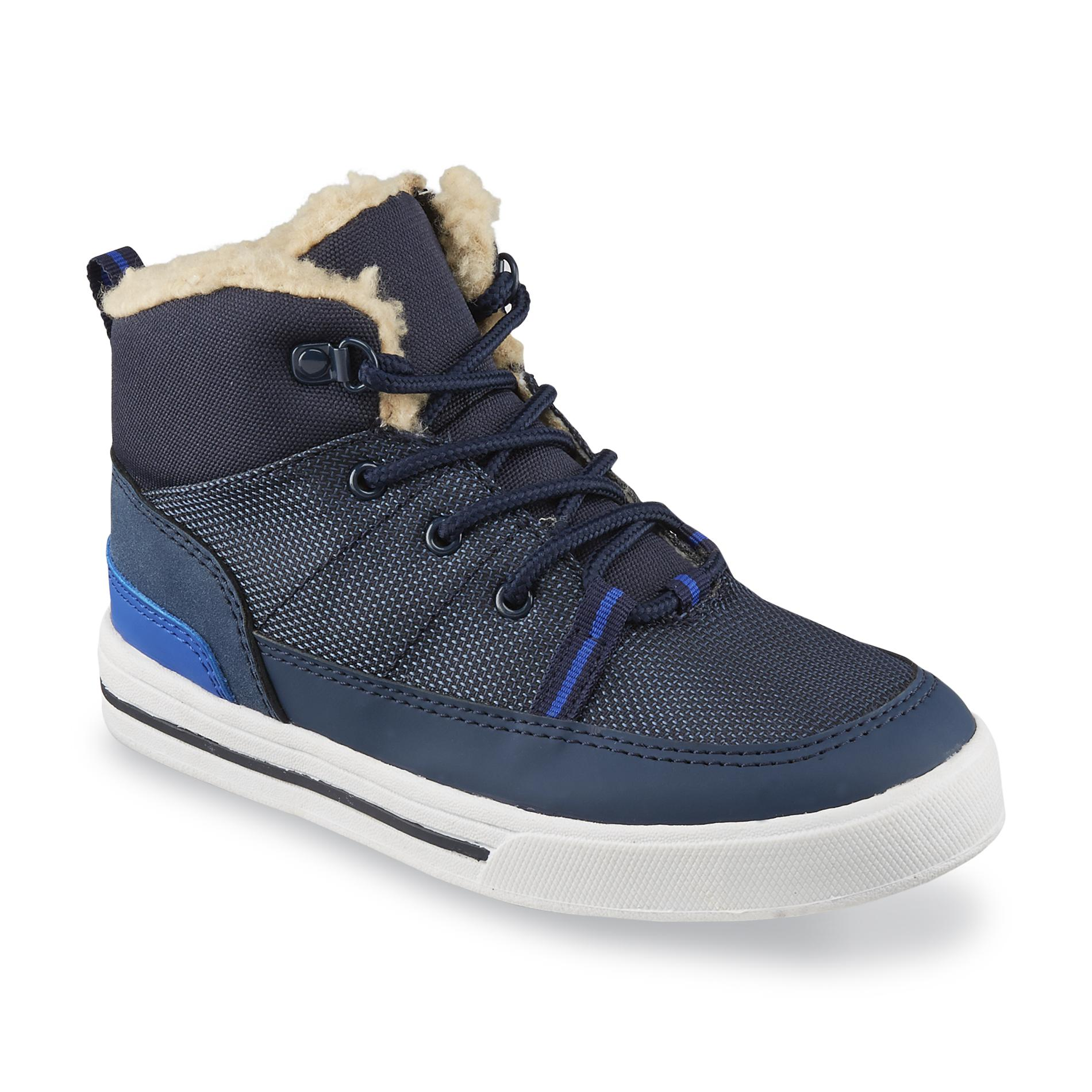 Route 66 Toddler/Youth Boy's Jack Navy High-Top Shoe