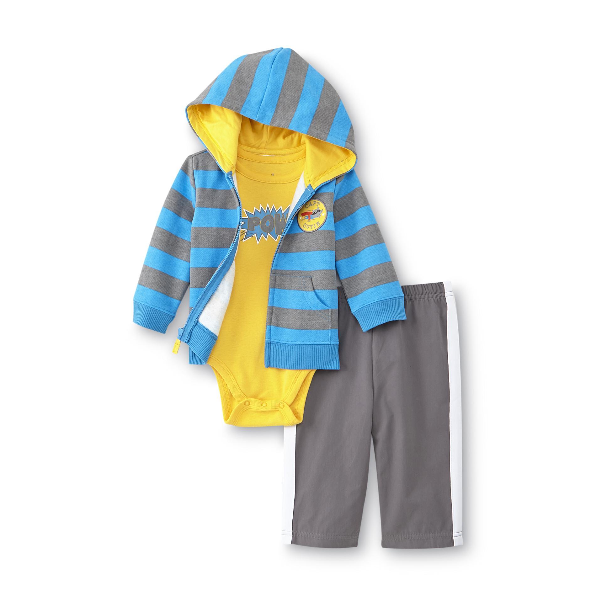 Newborn Boy's Hoodie Bodysuit & Pants - Capt. Cutie