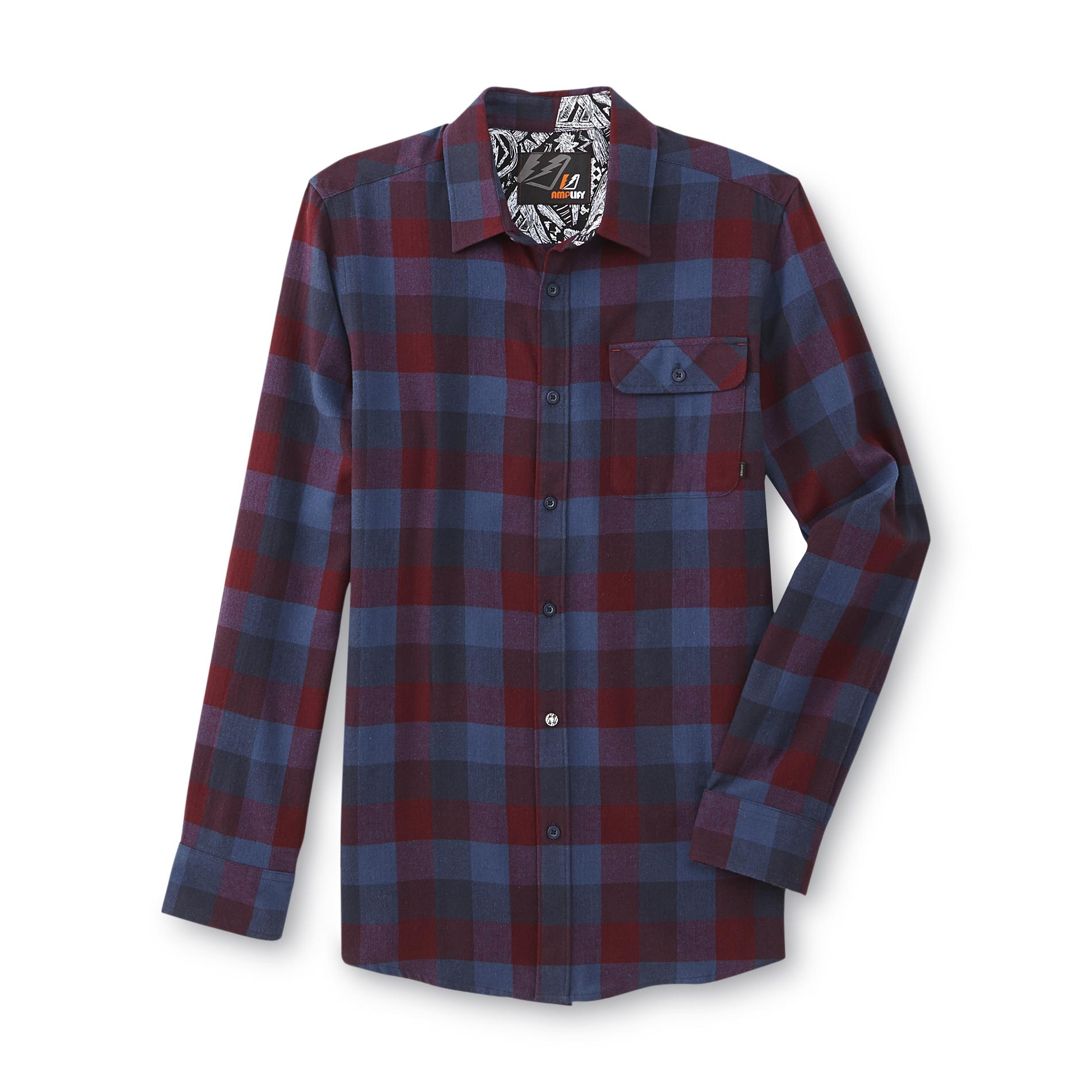 Amplify Young Men's Flannel Shirt - Plaid