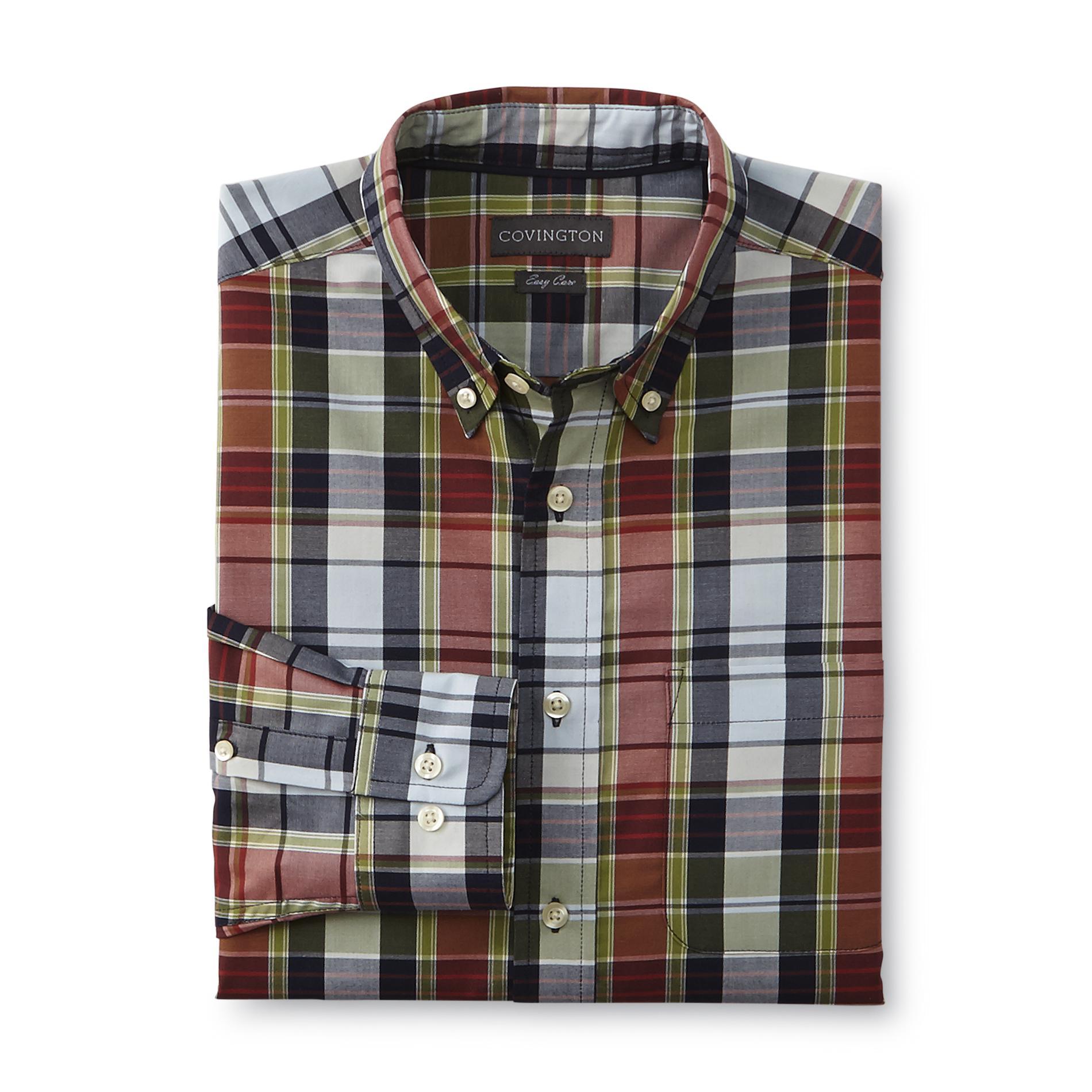 Covington Men's Easy Care Long-Sleeve Shirt - Plaid