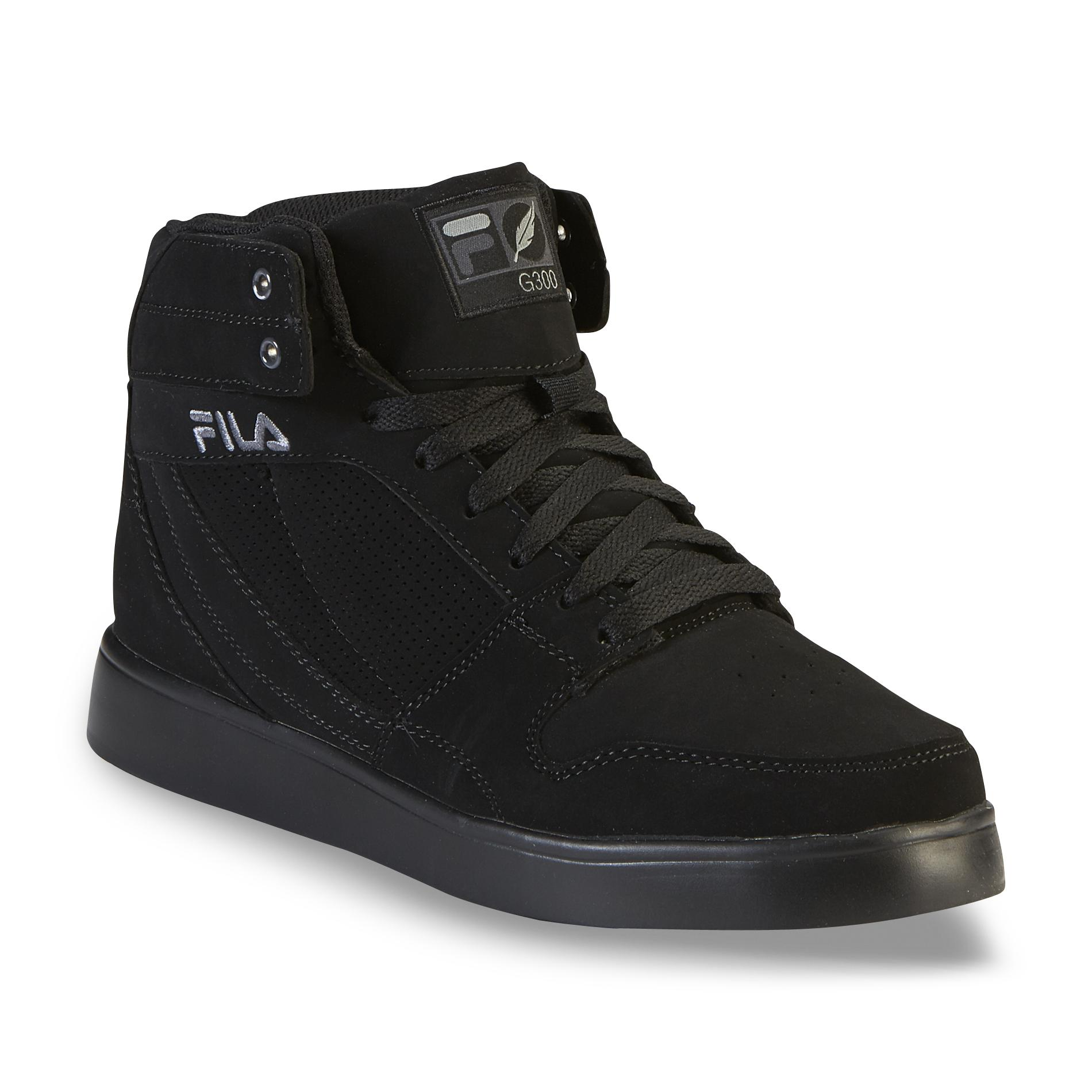 Fila Men S G300 Figueroa Black High Top Shoe Clothing