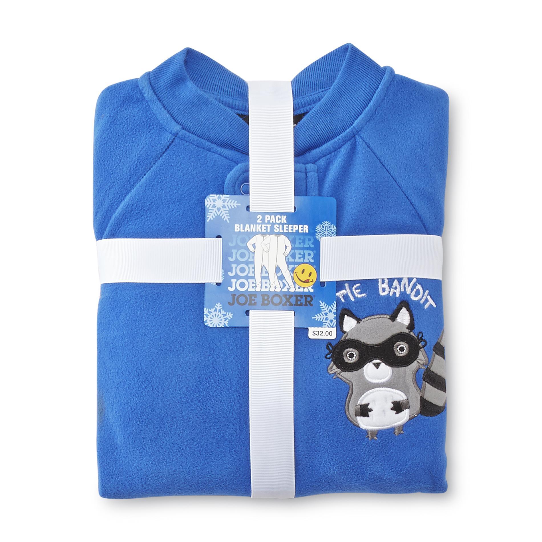 47812620525a Joe Boxer Infant   Toddler Boy s 2-Pack Sleeper Pajamas - Raccoon