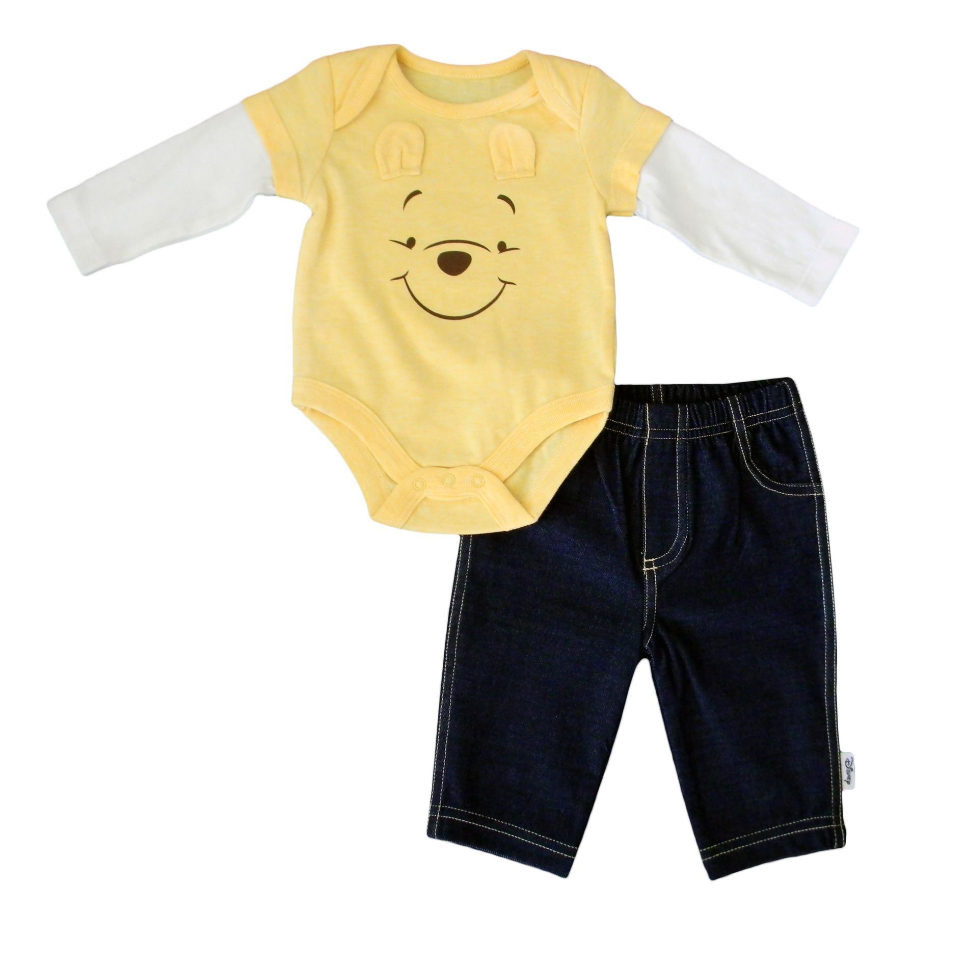 Disney Baby Winnie the Pooh Newborn Boy's Bodysuit & Pants