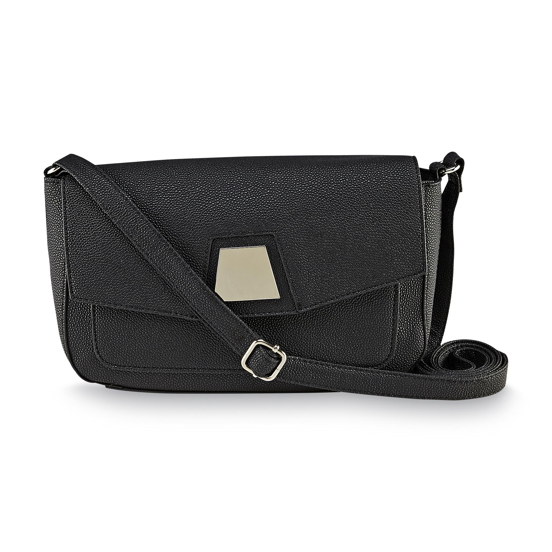 Attention Women's Flap Down Crossbody Bag - Stingray